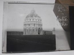 94 - Plaque De Verre - Italie - Pise - Baptistère - Glasplaten