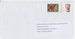 Romania -Brancusi -  Used Cover Letter Circulation Postal Stationery Used Letter Registered Letter Prioritary Timbres - Celebrità