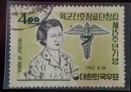 Used 1963 South Korea Army Nursing Corps Stamp Nurse - Medicine