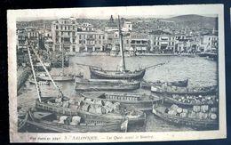 Cpa De Grèce Salonique -- Les Quais Avant Le Sinistre    MARS18-11 - Griechenland