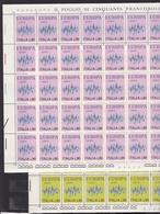1972 Italia Italy Repubblica EUROPA CEPT  EUROPE 50 Serie Di 2v. Foglio MNH** Sheets - 1972
