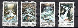 POLONIA 1992 - CASCATE E ANIMALI - UCCELLI E PESCI - SERIE COMPLETA - MNH** - 1944-.... Repubblica