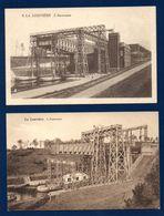 La Louvière. Lot De 2 Cartes. L'ascenseur à Bateaux. Canal Du Centre, Liaison Entre La Meuse Et L'Escaut - La Louvière