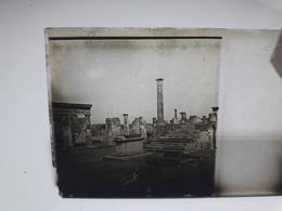 113 - Plaque De Verre - Italie - Pompei - Vésuve - Sorrente . - Glasplaten