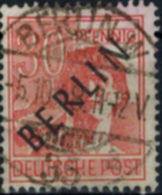 Berlin Schwarzaufdruck Nr. 11 Gemeinschaft M. Aufdruck 30 Pfg. Gestempelt 1948  - Berlin (West)