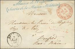 Griffe Bleue ' Maison De L'Empereur / (Service De La Maison Militaire) ' Càd Rouge BUREAU DU PALAIS DE ST CLOUD (72), CH - Unclassified