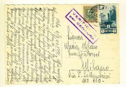 ERITREA - 1940 - CARTOLINA VIALE BENITO MUSSOLINI - VERIFICATA PER CENSURA DA ADIS ABEBA PER MILANO - Eritrea