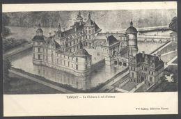 Tanlay -Le Château à Vol D'Oiseau - Edit. Vve Galley - Voir 2 Scans - Tanlay