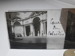 117 - Plaque De Verre - Italie -  Rome, Cour Du Belvèdère - Glasplaten