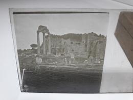 119 - Plaque De Verre - Italie -  Rome - Glasplaten