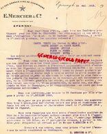 51- EPERNAY- LETTRE E. MERCIER - VINS CHAMPAGNE- 1913 - Lebensmittel