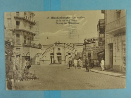 Blankenberghe Les Escaliers De La Rue De L'Ouest - Blankenberge