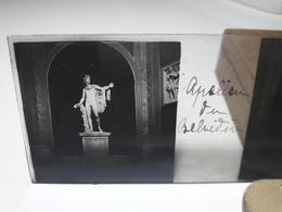 128 - Plaque De Verre - Italie -  Rome - Apollon Du Belvédère - Glasplaten