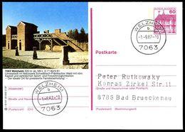 83892) BRD - P 138 - R9/141 - Ortsgleich OO Gestempelt - 7063 Welzheim, Römisches Kastell - [7] West-Duitsland