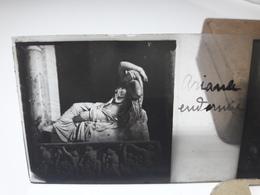 129 - Plaque De Verre - Italie -  Rome - Ariane Endormie - Glasplaten
