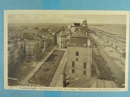 Blankenberghe Panorama De La Ville Et De La Plage - Blankenberge