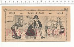 2 Scans 1904 Humour Location Immobilière Concierge Ancien Landau Enfant Chapeaux Dame Modisme Paratonnerre 216PF10XG - Vieux Papiers