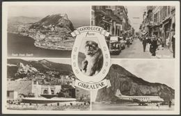 Multiview, Good Luck From Gibraltar, C.1950s - Rock Photographic Studio RP Postcard - Gibraltar
