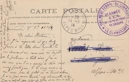 CARTE. 8 9 14. 2° ARMEE D.E.S. POLICE MOBILE 1° GROUPE. BOURDON ROUTE D'ISEUX - Guerre De 1914-18