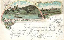 GRUSS AUS SPONECK A/Rh- Carte Illustrée De 1898. - France