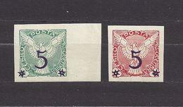 Czechoslovakia Tschechoslowakei 1925 MNH ** Mi 216, 220 Sc P9-P10 Newspaper Stamps, Zeitungsmarken - Fliegender Falke C7 - Tschechoslowakei/CSSR