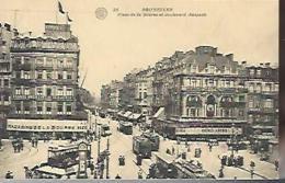 BRUXELLES : Place De La Bourse Et Boulevard Anspach - Places, Squares
