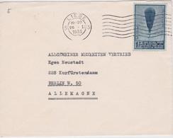 BELGIQUE 1933 LETTRE DE LIEGE TIMBRE  THEME BALLON - Briefe U. Dokumente