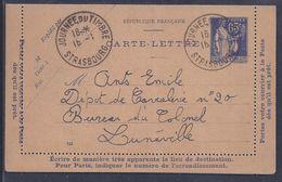 Entier Postal 65c Paix Journee Du Timbre 1938 Strasbourg - Entiers Postaux