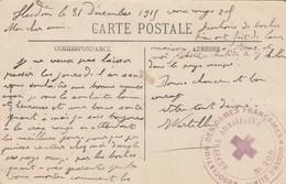 CARTE EN FM. 31 12 15. HOPITAL AUXILIAIRE N° 205 COMITE D'HESDIN. ASSOCIATION DES DAMES FRANCAISES - Guerre De 1914-18