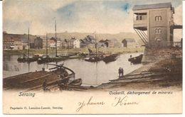 SERAING MEUSE COCKERILL Déchargement De Minerals  1077 /d2  Papeterie Lemaire -Lenoir Ca  1902 - Seraing