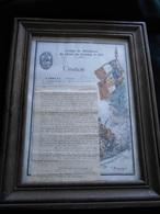 Citation En 1943 GBCC Groupe De Bataillons De Chars De Combat N° 504 Capitaine Arnould Par Le Général Bridoux MARS18-11 - France