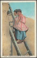 Taking The Elevator, Hopi Village, Arizona, C.1930 - Fred Harvey Postcard - Other