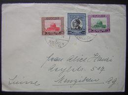 JORDANIE: N°385+303+305 Sur LSC De 1964 Pour La Suisse Cachet Jerusalem Citadel - Jordanie