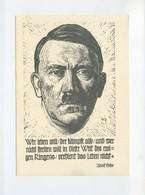 1943 3.Reich  Propagandakarte Hitler  Linolschnitt Wer Leben Will, Der Kämpft Also - Deutschland