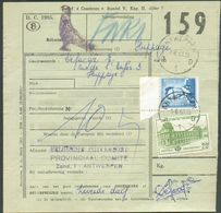 BELGIUM Railway Document Affr. Mixte 20fr. Chemin De Fer + 4Fr. Baudouin Obl. Sc ANTWERPEN 1 Du 1-8-1961 Avec Cachet PIG - Pigeons & Columbiformes