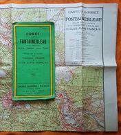 CARTE - FORÊT DE FONTAINEBLEAU ET SES ENVIRONS - CLUB ALPIN FRANCAIS - 1/30000° - ESCALADE - ANNEE 50 - Topographical Maps