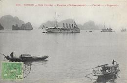 Tonkin, Baie D'Along - Escadre, Chateaurenaud, Pascal, Bugeaud - Edition P. Dieulefils - Carte N° 256 Non écrite - Viêt-Nam