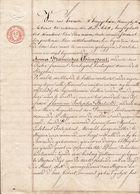 1837 TITEL Te STRIJPEN - VERKOOP HERBERG AAN DE KERK VAN STRIJPEN - Weduwe VANDAMME Jegens Weduwe JANSEGHERS - Documents Historiques