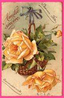 Amitié Sincère - Fleurs - Suspension De Roses Jaunes - Rose - 1909 - Trade KOPAL Mark - Blumen