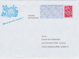 FRANCE PRET A POSTER REPONSE THEME SPA  CHIEN - Entiers Postaux