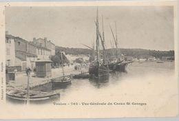 Var TOULON Vue Générale Du Creux St Georges Bateau - Toulon