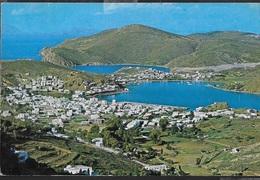 GRECIA - PATMOS - PANORAMA - VIAGGIATA 1992 FRANCOBOLLO ASPORTATO - Grecia