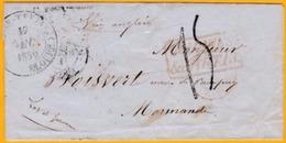 1852 - Enveloppe De Basse Terre, Guadeloupe Vers Boisvert Près Marmande, Lot Et Garonne Par Voie Anglaise - Colonies - Postmark Collection (Covers)