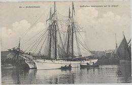 Nord DUNERQUE Goelettes Islandaises Sur Le Départ Bateau - Dunkerque