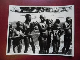 PHOTO Afrique Noire - Acclamations En Costume Local @ 24,1 Cm X 18,3 Cm - Africa