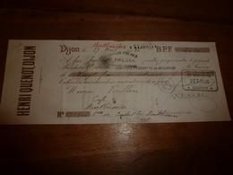 1912  Mandat Au Porteur (Vorillon Du Café à Monboissier) Sur Comptoir D'Escompte De Mulhouse Pour Maison CHALUS Frères - Chèques & Chèques De Voyage
