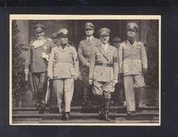 Dt. Reich AK Hitler Mussolini Göring Hess Ciano - Historische Persönlichkeiten