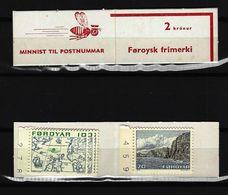 FÄRÖER Inseln - Markenheftchen Mit 6 X Mi-Nr. 8 + 2 X Mi-Nr. 11 Freimarken Postfrisch - Féroé (Iles)