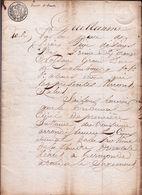 1817 - JUGEMENT DU TRIBUNAL DE TERMONDE ( Dendermonde ) - J.B. DE BLOCK > MARIE VANDENHEUVEL - 10 Pag.! AVOCAT - Documents Historiques