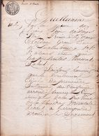 1817 - JUGEMENT DU TRIBUNAL DE TERMONDE ( Dendermonde ) - J.B. DE BLOCK > MARIE VANDENHEUVEL - 10 Pag.! AVOCAT - Documentos Históricos